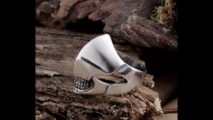 ALIEN SKULL MASK RING