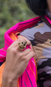 HEADPHONES SKULL RING