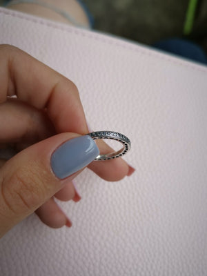 Authentic 925 Sterling Silver Heart Stackable Rings