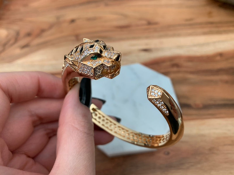 18k Gold Plated Panther Bangle