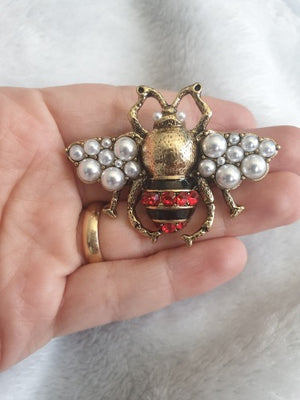 Pearl Bee Brooches