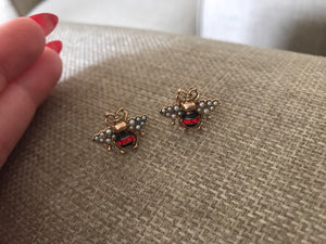 Bee crystal earrings