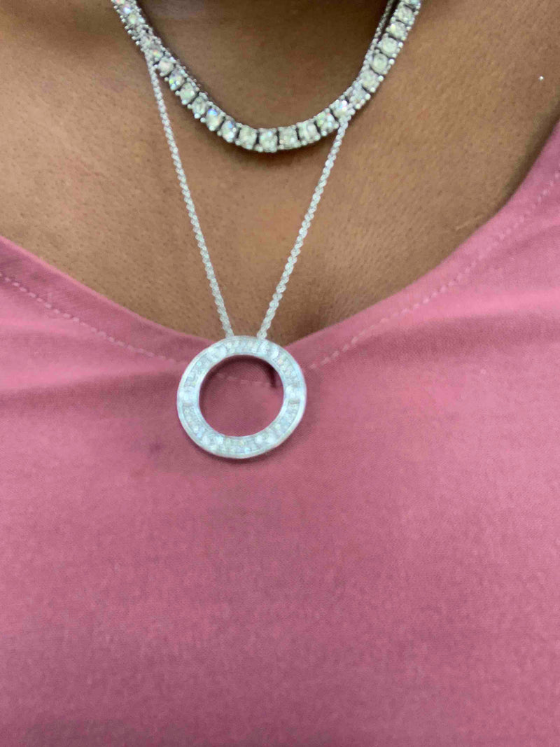 Paved Love Necklaces