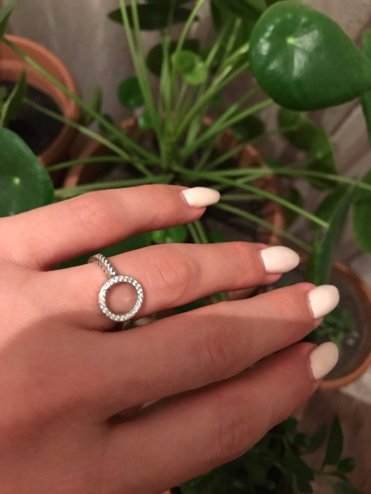 Real 925 Sterling Silver Lucky Circle Finger Rings