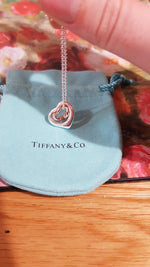 Sterling silver 925 classic fashion silver heart rose gold heart ladies necklace