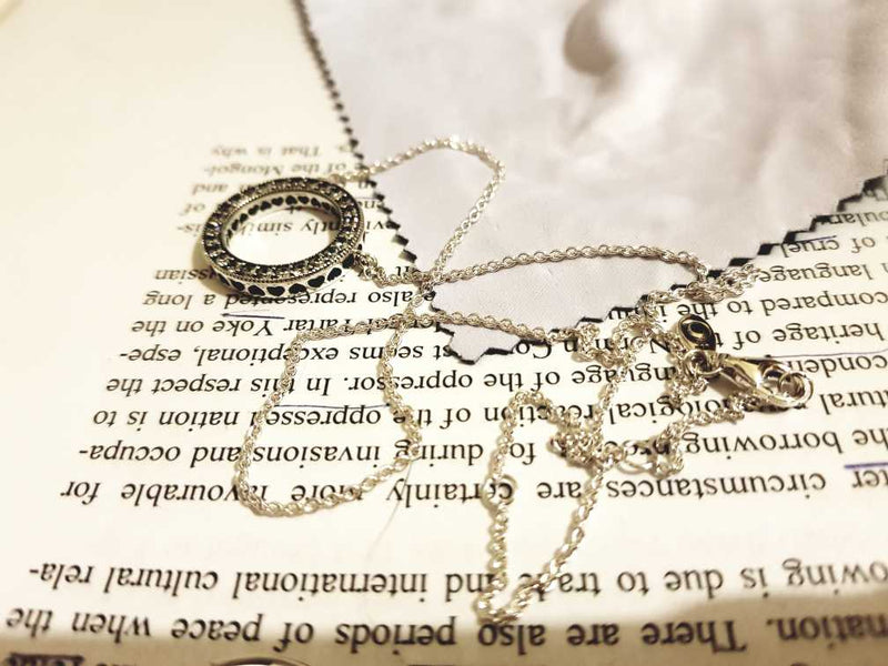 925 Sterling Silver Réversible  Necklace