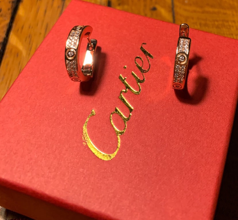 Paved Cartier Earrings