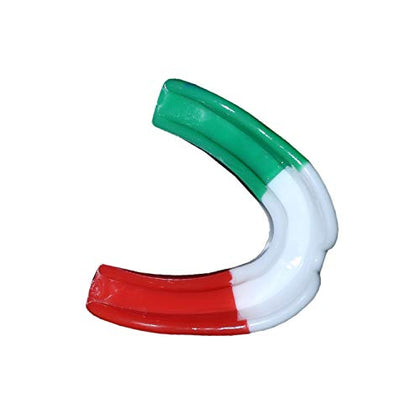 Defy Mouth Guard Gum Shield Teeth Protector Boil Bit Boxing Karate Football Rugby (Italy Flag, Senior)