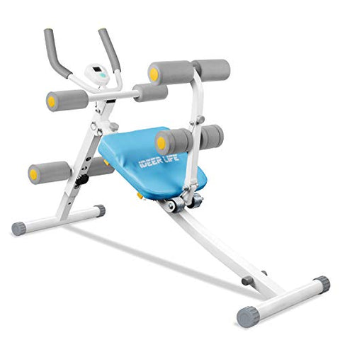 Ideer Life Core&Amp;Abdominal Trainers Abdominal Workout Machine,Whole Body Workout Equipment For Leg,Thighs,Buttocks,Rodeo,Height Adjustable Sit-Up Exerciser Home Ab Trainer With Lcd Display.White 09036