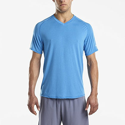 Saucony Freedom V-Neck Men L Blue Aster