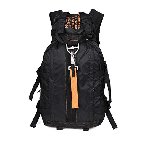 Arymcamousa Air Force Parachute Buckles Hook Water Resistant Rucksacks Nylon Large Tactical Backpack Deployment Bag For Military Camping Hunting Hiking Motorbike Travelling Gym