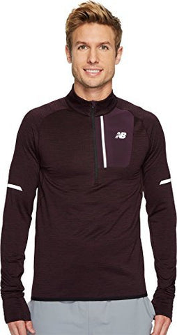 New Balance Mens Heat 1/2 Zip Men'S Sweatshirt, Black Rose Heather, Large