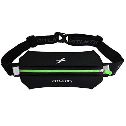 Fitletic Running Pouch - Neo I Black &Amp; Green