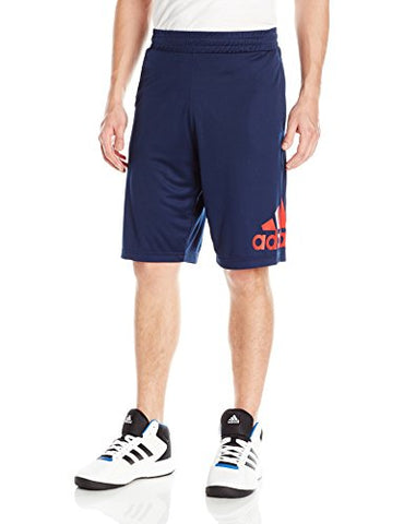 Adidas Men'S Basketball Crazylight Shorts, Collegiate Navy/Scarlet, X-Large