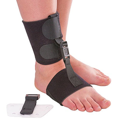 Soft Afo Foot Drop Brace | Ankle Foot Orthosis With Dorsiflexion Assist Strap Keeps Foot Up For Improved Walking Gait, Prevents Cramps - Wear Barefoot Or Inside Shoe (L/Xl - Fits Right Or Left Foot)