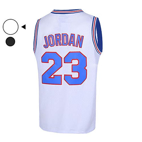 Emerpus Mens 23# Space Movie Jersey Basketball Jersey S-Xxl White/Black (3X-Large, White)