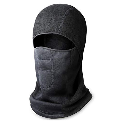 Your Choice Balaclava Ski Face Mask For Cold Weather Motorcycle Under Helmet Winter Outdoor Black, Warm Series A