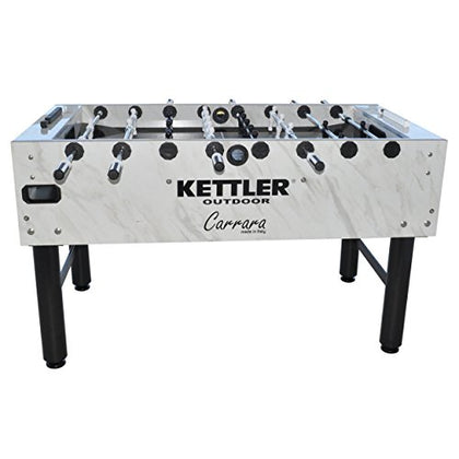Kettler Carrara Outdoor Foosball Table With 360 Degree Goalie Rotation, 5 Resin Balls, 5 Cork Balls And Premium Storage Cover