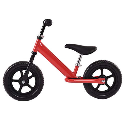 Costzon Kids Balance Bike, 12 Inch Classic Lightweight No-Pedal Toddlers Walking Bicycle W/Height Adjustable Seat And Handle, For Children Boys &Amp; Girls Age 2-5 (Red)