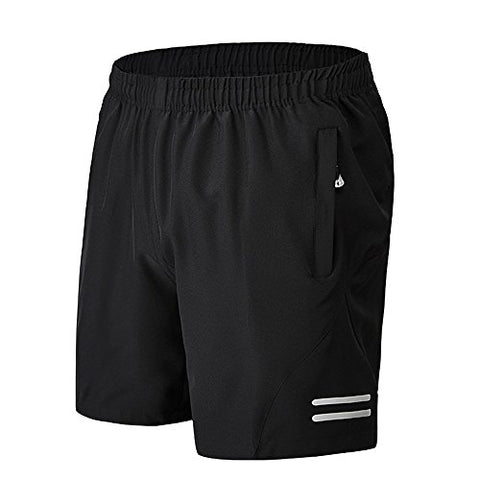 Zhi Made Mens Gym Shorts Zippered Loose Workout Shorts With Pockets Fitness Training Running Pants With Zipped Side Pockets White Us L