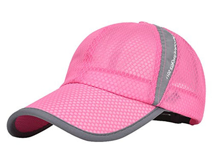 Mens Summer Fashion Hat Caps Adjustable Snapback For Baseball Tennis Outdoor Sporting Rose Pink