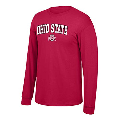 Elite Fan Shop Ncaa Men'S Ohio State Buckeyes Long Sleeve Shirt Team Color Arch Ohio State Buckeyes Red Small