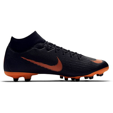 huge discount 3eb33 ed2a5 Nike Mercurial Superfly Vi Academy Multi-Ground Soccer Cleat 9 D(M) Us  Black,Total Orange