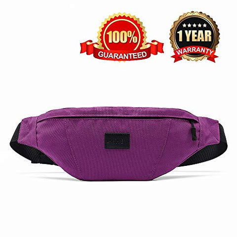 La Gracery Waist Bag Pack Running Belt, Water Resistant Sport Fanny Pack With Adjustable Strap For Men &Amp; Women Outdoors Casual Workout Traveling Cycling Hiking Purple