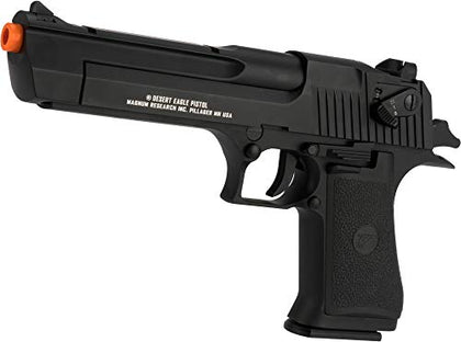Evike Magnum Research Licensed Semi/Full Auto Metal Desert Eagle Co2 Gas Blowback Airsoft Pistol By Kwc (Color: Black)