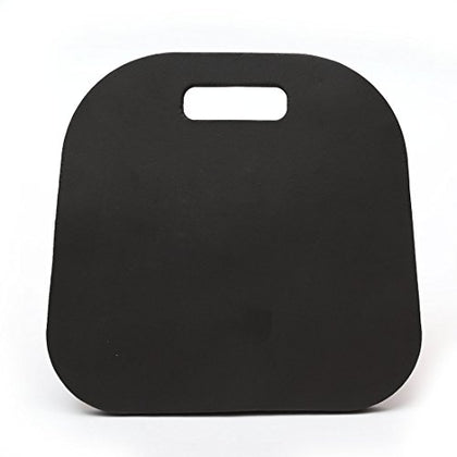 Memory Foam Luxury Seat Cushion Sporting Event Seat Pad With Carry Handle For Boat Stadiums Bleachers Chairs Seat (Black)