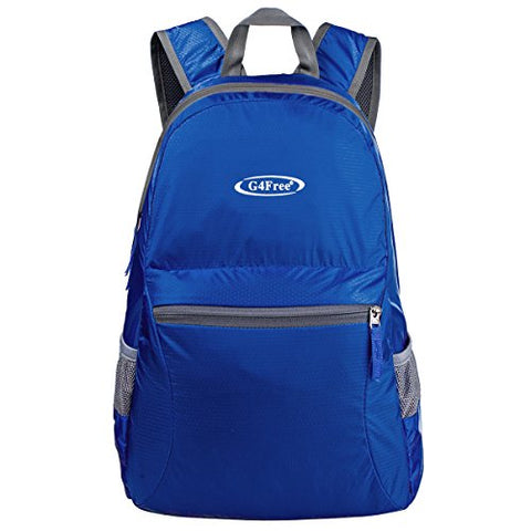 G4Free Ultra Lightweight Packable Backpack Hiking Daypack,Handy Foldable Camping Outdoor Backpack(Dark Blue)