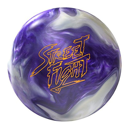Storm Street Fight Bowling Ball, Purple/White, 15 Lb