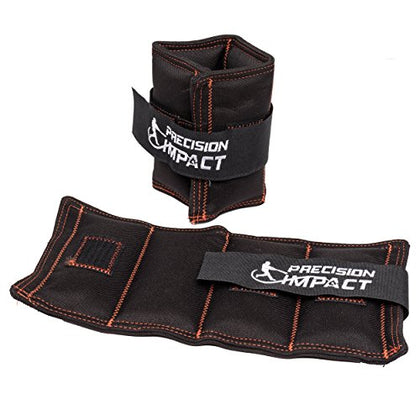 Precision Impact Wrist Weights: Durable Nylon Wrist Weights For Throwing/Pitching Training (2X5Lb Set)