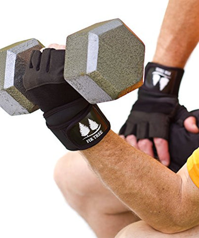 Leather Weight Lifting Gloves For Fitness, Weight Training, Crossfit,  Kickboxing  Padded Palms, 19 Wrist Support Straps, Easy Pull-Off Loops   Black