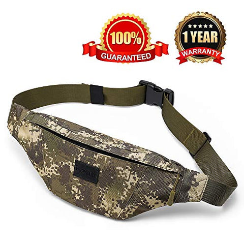 La Gracery Waist Bag Pack Running Belt, Water Resistant Sport Fanny Pack With Adjustable Strap For Men &Amp; Women Outdoors Casual Workout Traveling Cycling Hiking Army Green