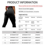Agroste Women'S High Waist Scrunch Butt Yoga Pants Workout Ruched Butt Lifting Stretchy Leggings Hip Push Up Stretchy Tights Black