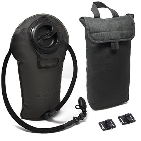 Diaz Sport 3L Hydration Pack Water Bladder Reservoir - Includes Insulated Cooler Bag &Amp; Free Clips To Hold Drinking Tube - Tasteless, Leakproof, Tpu, Bpa-Free, Quick Release &Amp; Shutoff Valve