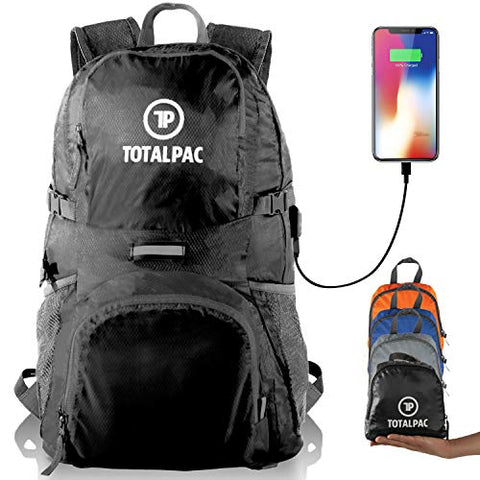 Totalpac Lightweight Foldable Packable Backpack Daypack - Perfect Traveling, Camping, Small Hiking Backpack -This Ultralight Light Backpack Great For Travel, Gear Bags &Amp; Daypacks For Men Women Kids