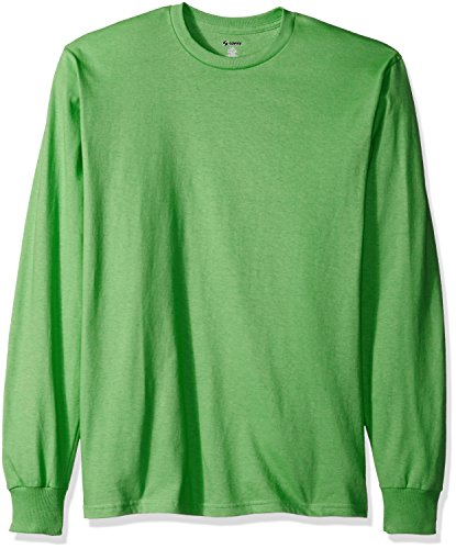 Mj Soffe Men'S Long-Sleeve Cotton T-Shirt, Poison Green, Small