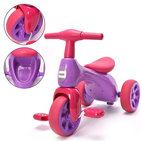 Chromewheels Baby Balance Bike, Toddlers Tricycle Walker With Bb Sound For 18-36 Months, Purple