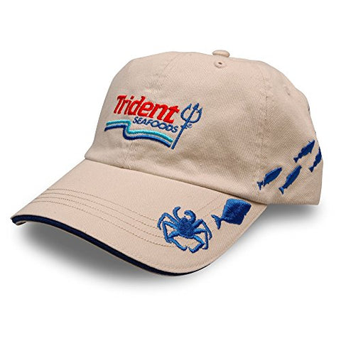 Trident Crab Embroidered Crabbing And Fishing Hat Seen On Deadliest Catch