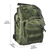 Qcute Oxford Fabric Multifunctional Unisex Chest Shoulder Satchel Bag,Tactical Sling Pack/Camping Shoulder Pack,Fit For Ipod, Ipad,Iphone 6 6Plus,Mp3,S6 Android Smart Phone (Army Green)