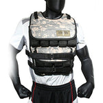 Cross101 Camouflage Adjustable Weighted Vest Without Shoulder Pads (20)