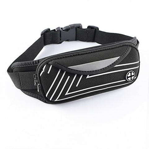 Running Belt Hecopro Hands Free Fanny Pack Waist Bag  Waist Pouch Workout Belt For Iphone Xr Xs Max X 8 7 Plus Samsung Galaxy S9 S8, Holder For Women Men Runners