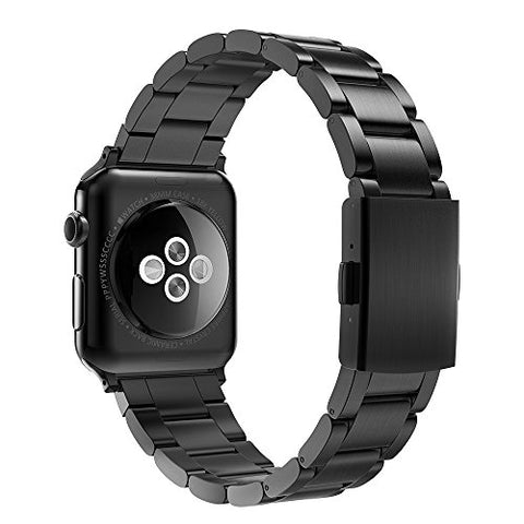 Simpeak Replacement Iwatch Band 42Mm 44Mm Women Men Stailess Steel Metal Band Strap For Apple Watch Series 4 Series 3, Series 2, Series 1, Black