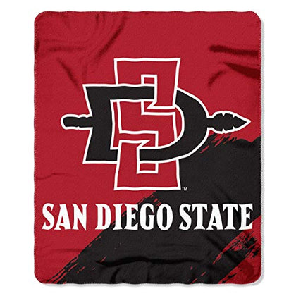 The Northwest Company Ncaa San Diego State Printed Fleece Throw, One Size, Multicolor