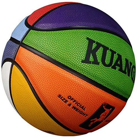 Kuangmi Colorful Street Basketball For Women Girls Youths Intermediate Size 6(28.5 )