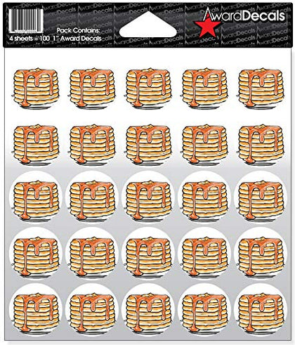 Award Decals Football Pancake Block Full Color Decals (100 Stickers)
