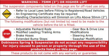 3 inch lift warning