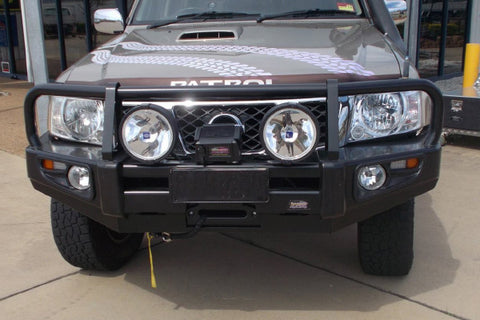 Dobinsons 4x4 Classic Black Deluxe Bullbar for Nissan Patrol Y61 GU Wagon (Series 4) (09/2004 on) & Patrol Y61 GU Ute (Series 4) (2006 on)  (BU45-3691)